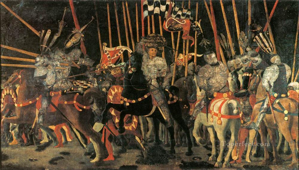 Micheletto da Cotignaola Engages In Battle early Renaissance Paolo Uccello Oil Paintings