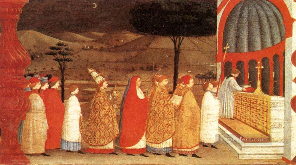 Miracle Of The Desecrated Host Scene 3 early Renaissance Paolo Uccello Oil Paintings
