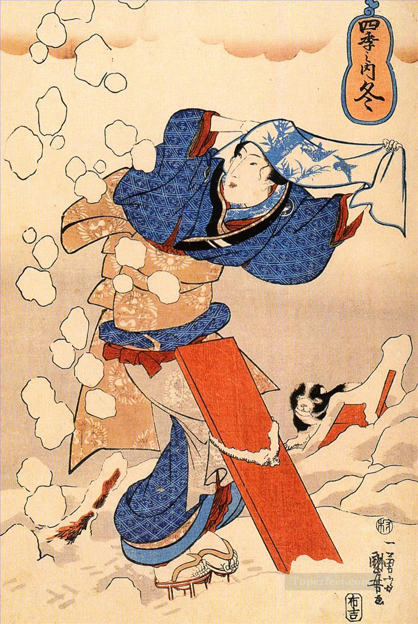 women 22 Utagawa Kuniyoshi Ukiyo e Oil Paintings