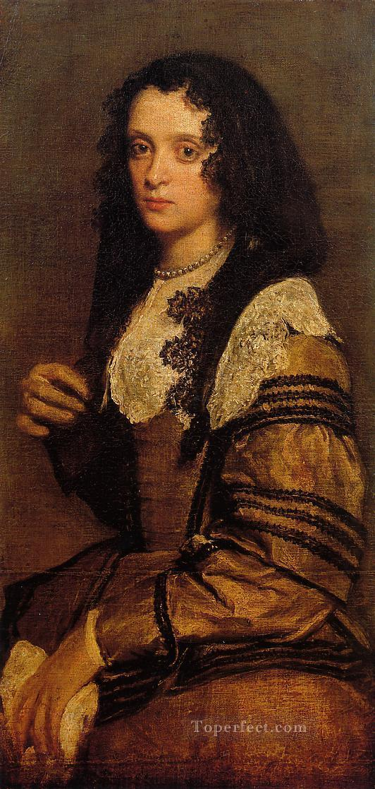 A Young Lady portrait Diego Velazquez Oil Paintings