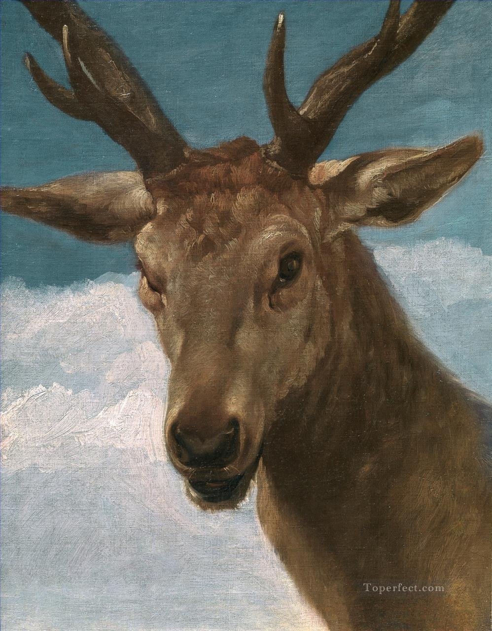 Head Of A Stag Diego Velazquez Oil Paintings
