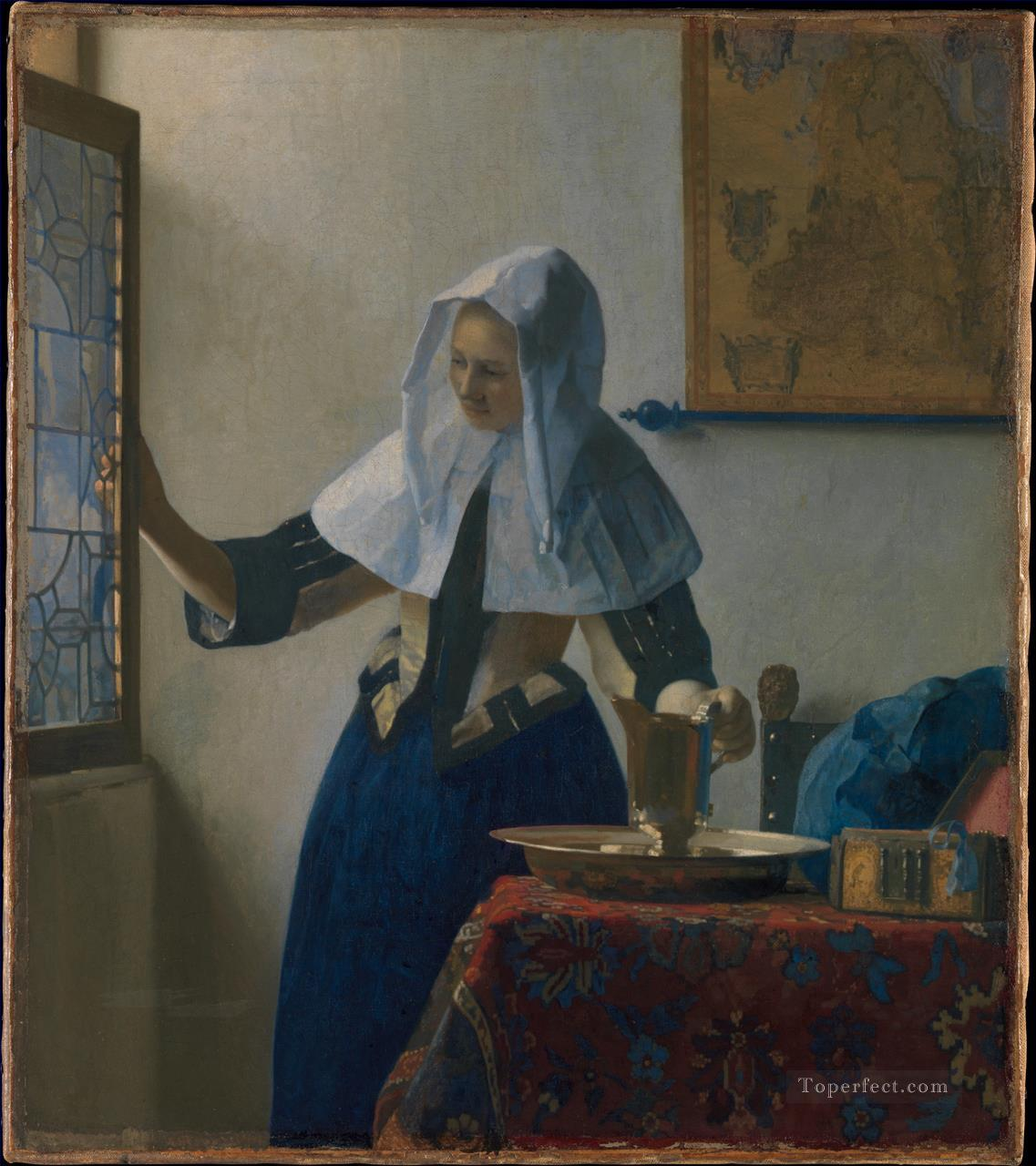 Young Woman with a Water Jug Baroque Johannes Vermeer Oil Paintings