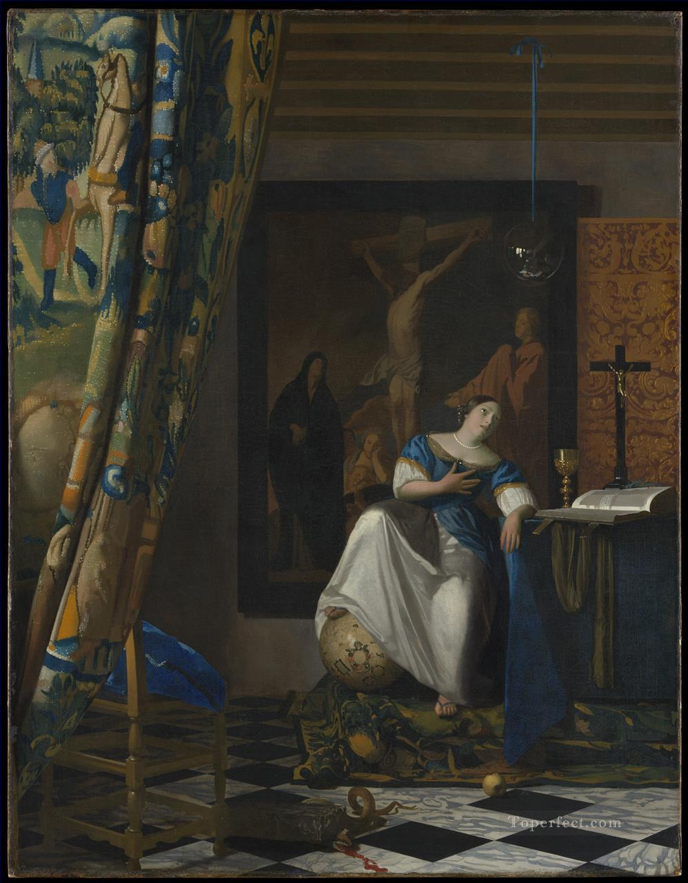 Allegory of the Faith Baroque Johannes Vermeer Oil Paintings