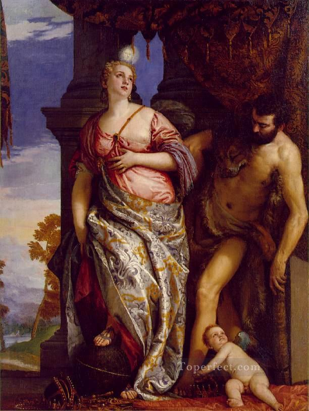 Allegory of Wisdom and Strength Renaissance Paolo Veronese Oil Paintings