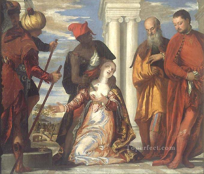 The Martyrdom of St Justine Renaissance Paolo Veronese Oil Paintings
