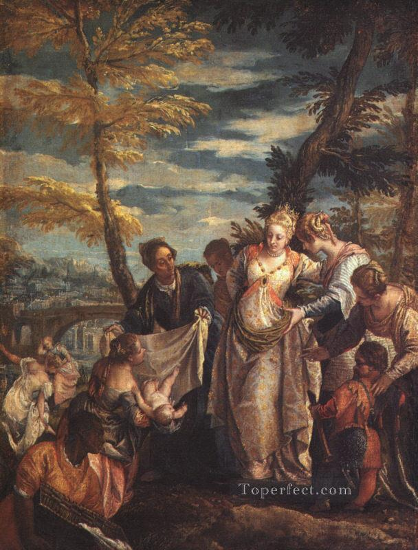 The Finding of Moses Renaissance Paolo Veronese Oil Paintings