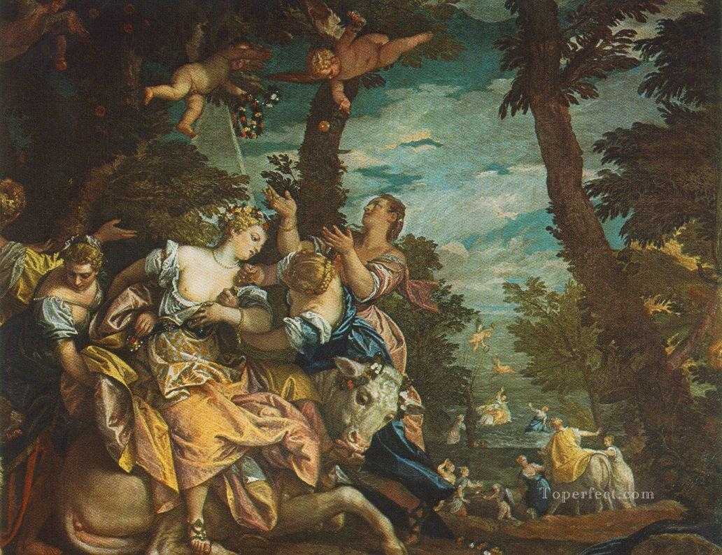 The Rape of Europe Renaissance Paolo Veronese Oil Paintings