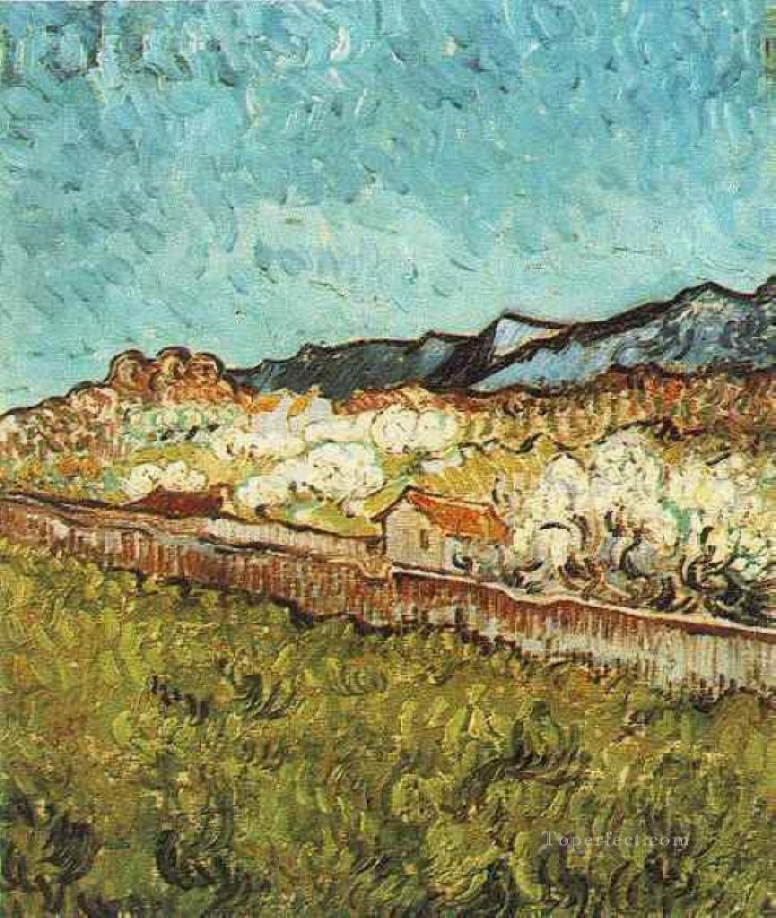 At the Foot of the Mountains Vincent van Gogh Oil Paintings