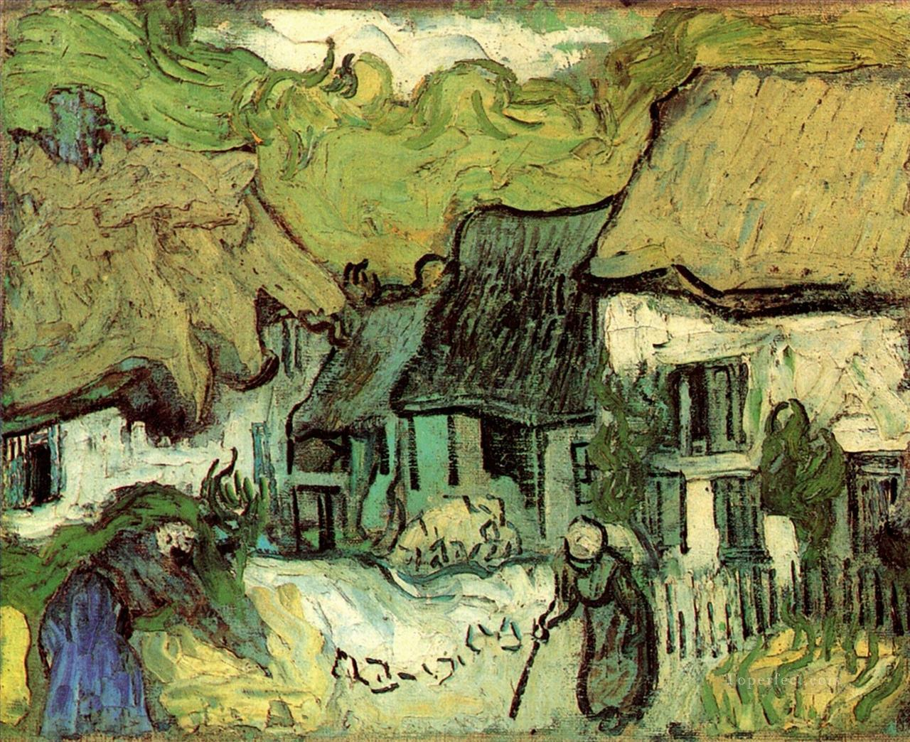 Thatched Cottages in Jorgus Vincent van Gogh Oil Paintings