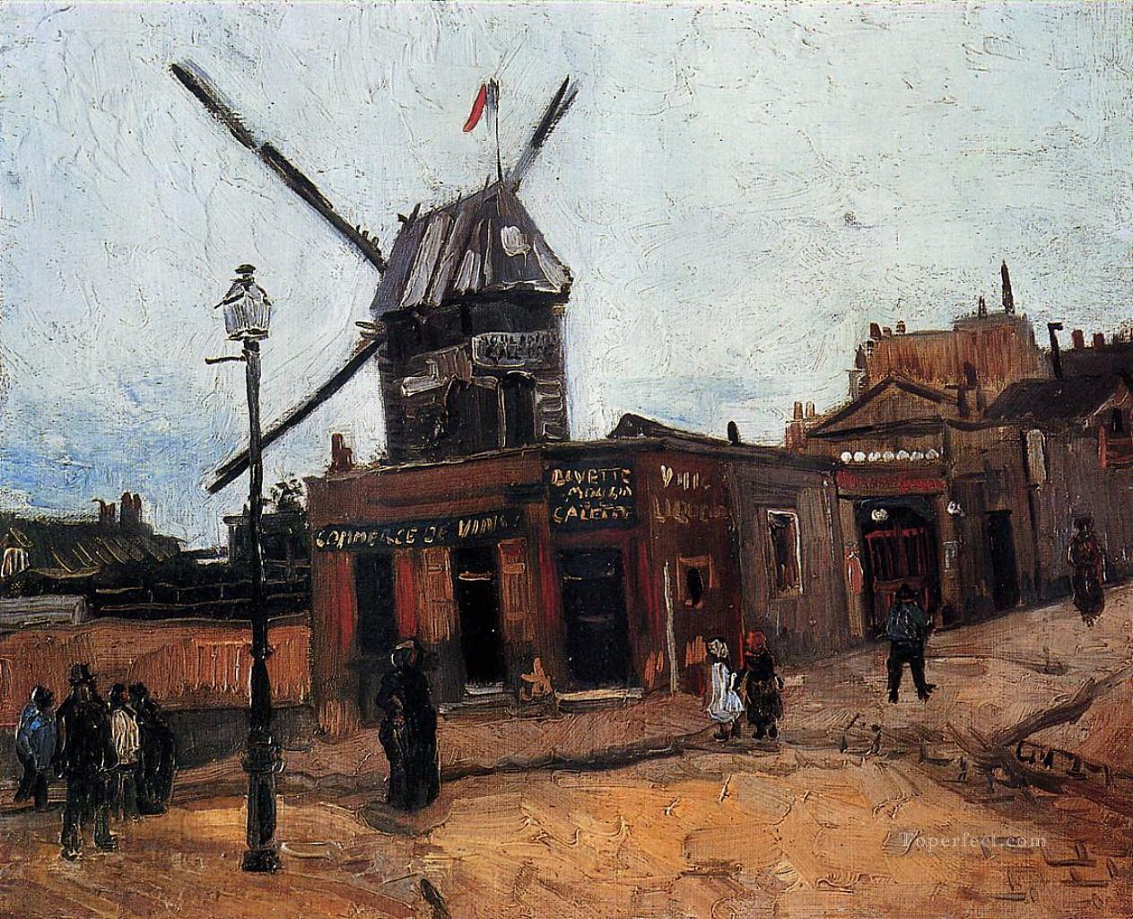 Le Moulin de la Galette Vincent van Gogh Oil Paintings