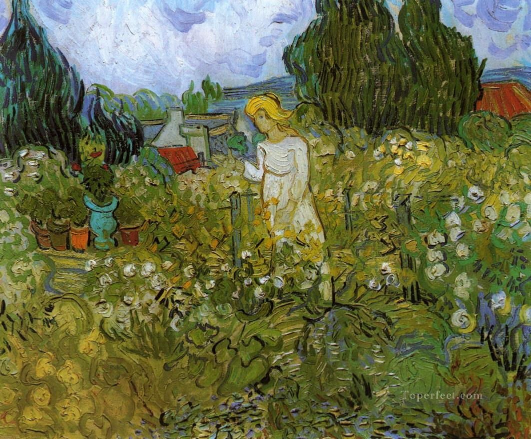 Mademoiselle Gachet in her garden at Auvers sur Oise Vincent van Gogh Oil Paintings