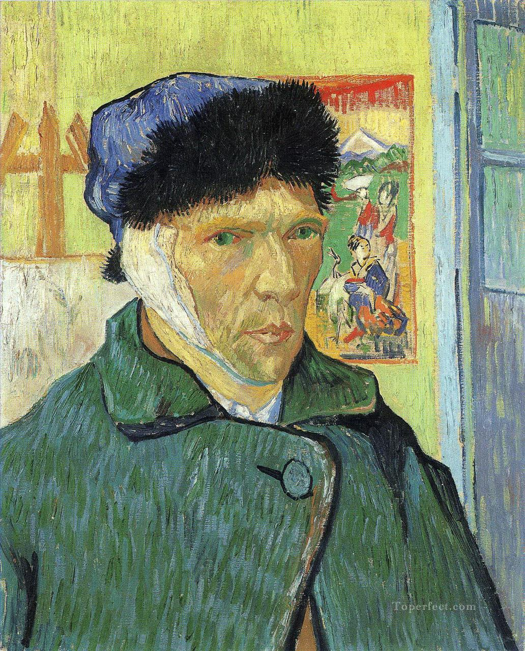 Self Portrait with Bandaged Ear 2 Vincent van Gogh Oil Paintings
