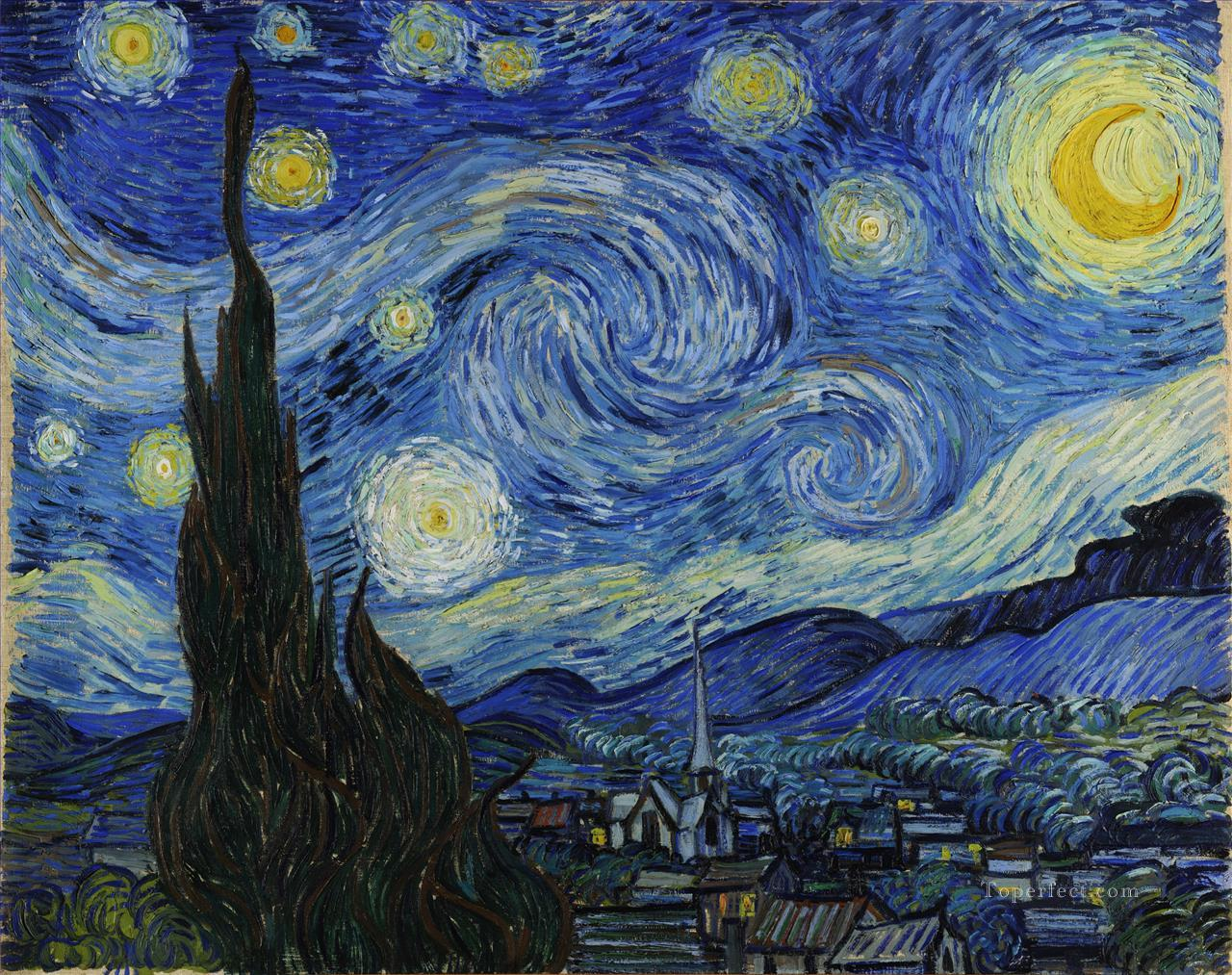 The Starry Night Vincent van Gogh Oil Paintings