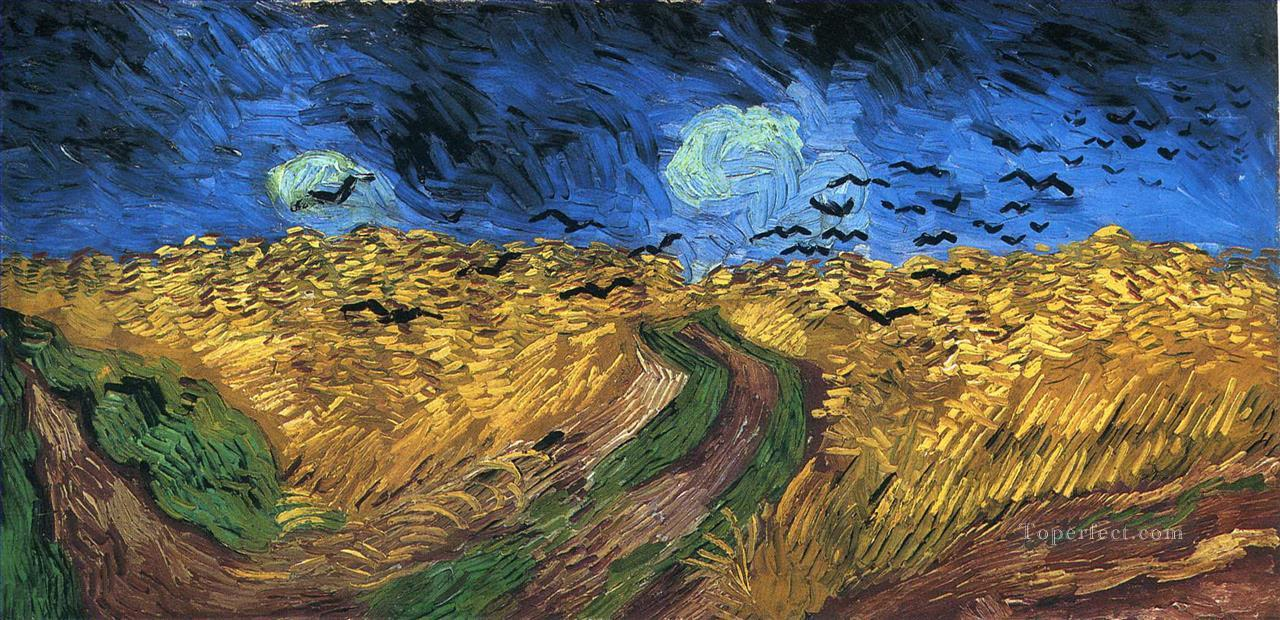 Wheatfield with Crows Vincent van Gogh Oil Paintings