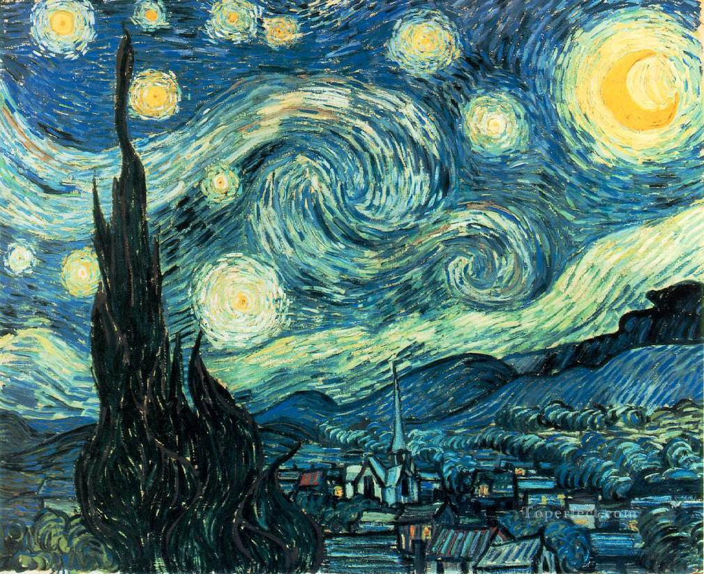 van Gogh The Starry Night 2 Oil Paintings