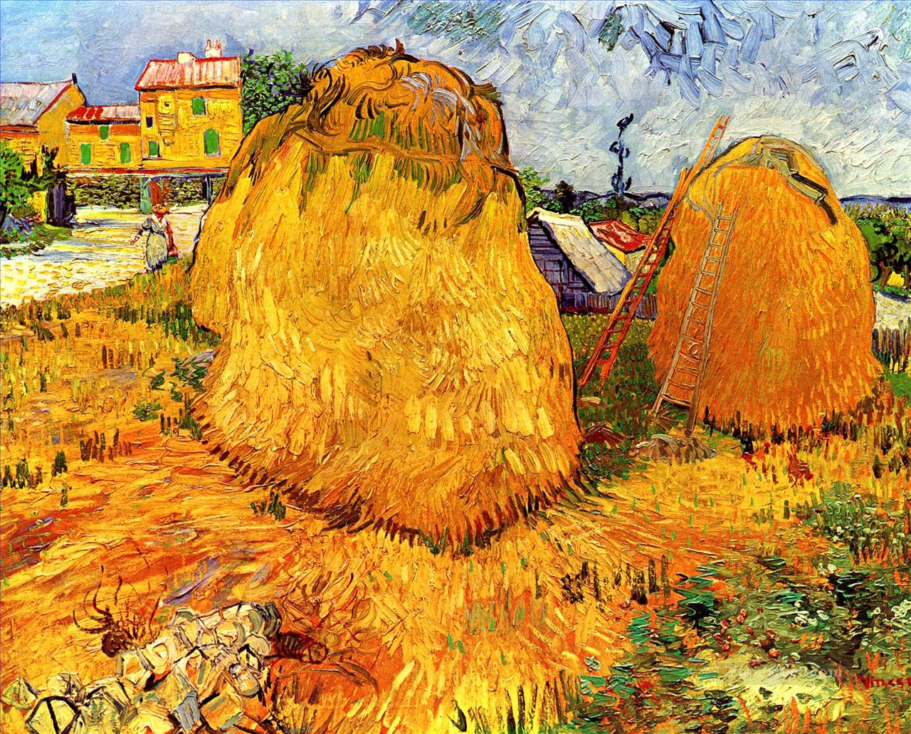 Haystacks in Provence Vincent van Gogh Oil Paintings