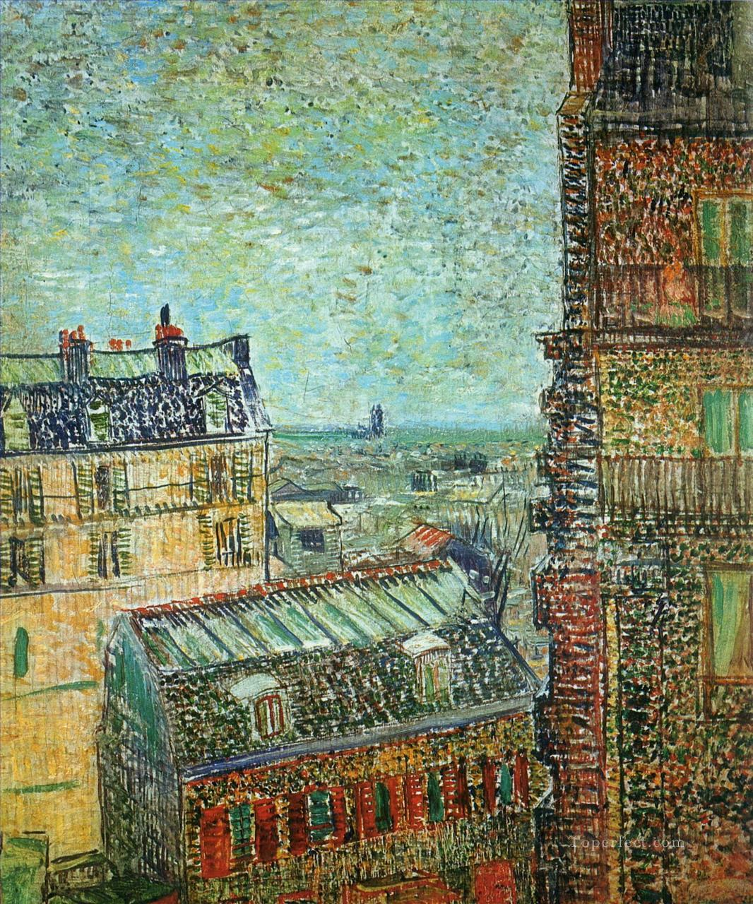 View of Paris from Vincent s Room in the Rue Lepic Vincent van Gogh Oil Paintings