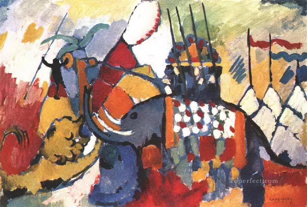 The elephant Wassily Kandinsky Oil Paintings