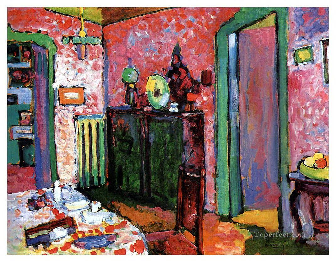 Interior my dining room wassily kandinsky painting in oil for Dining room paintings sale