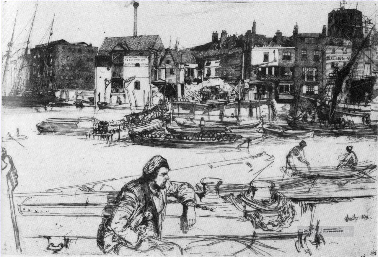 Black Lion Wharf James Abbott McNeill Whistler Oil Paintings