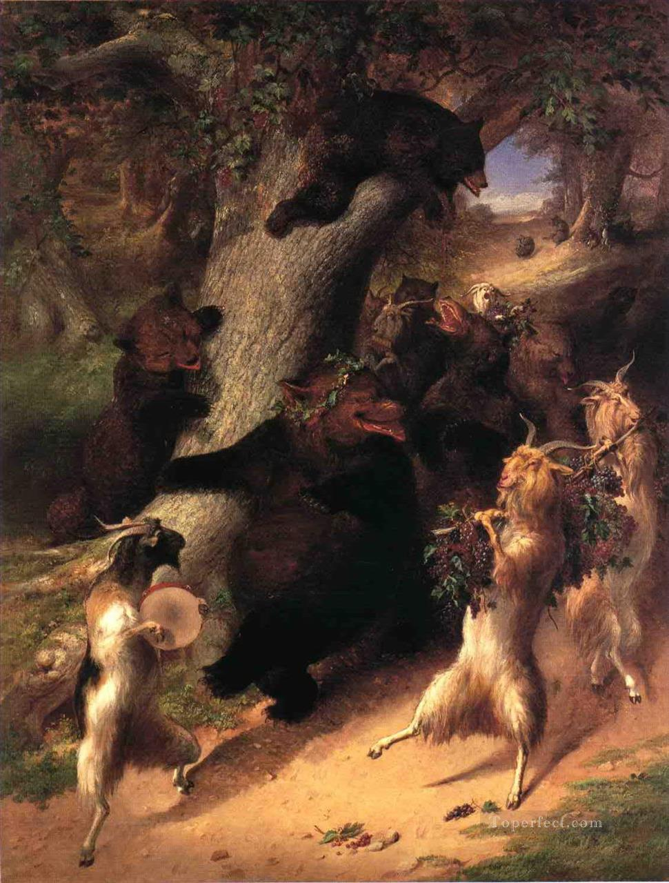 The March of Selenus William Holbrook Beard Oil Paintings