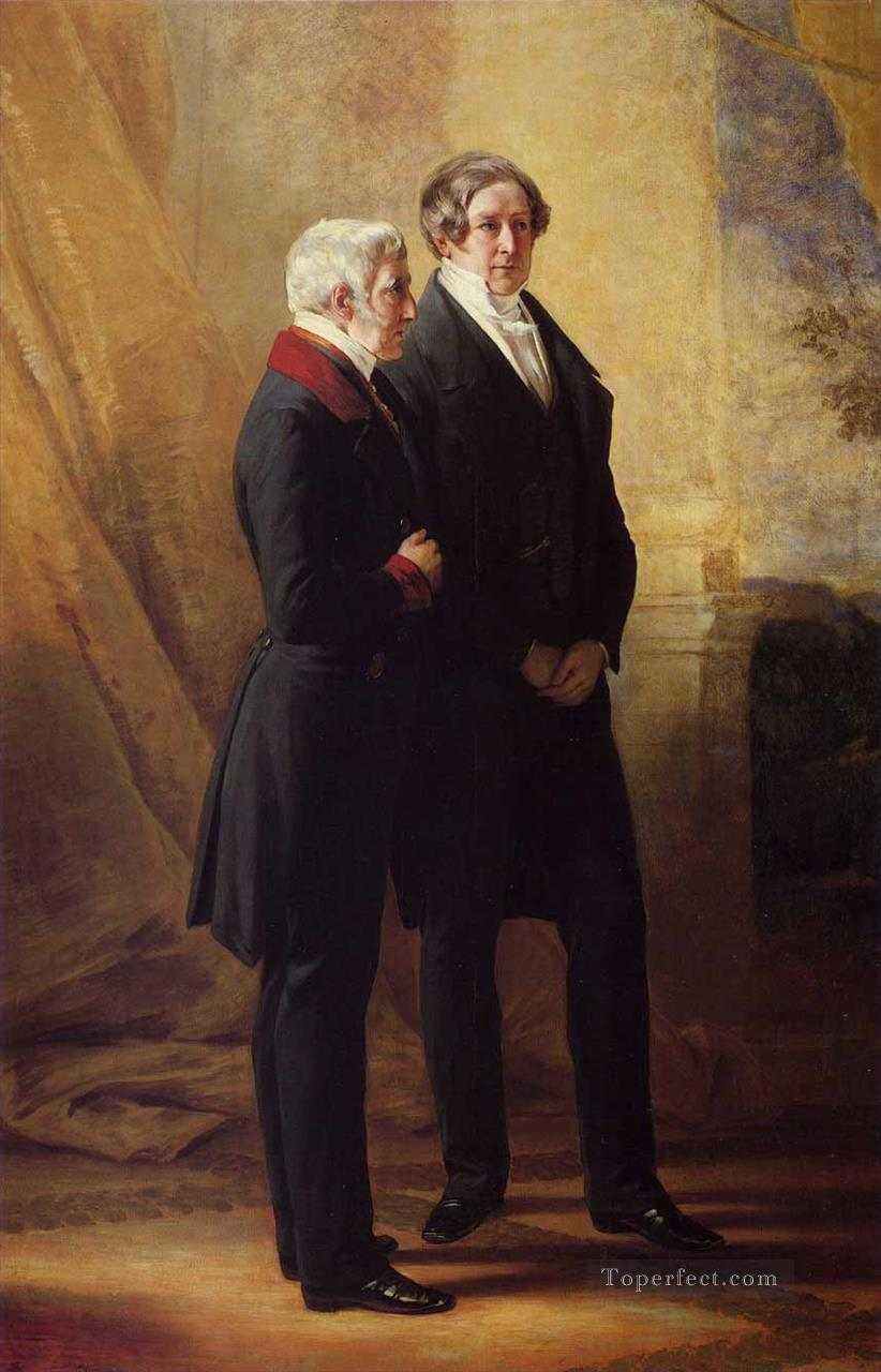 Arthur Wellesley 1st Duke of Wellington with Sir Robert Peel royalty portrait Franz Xaver Winterhalter Oil Paintings