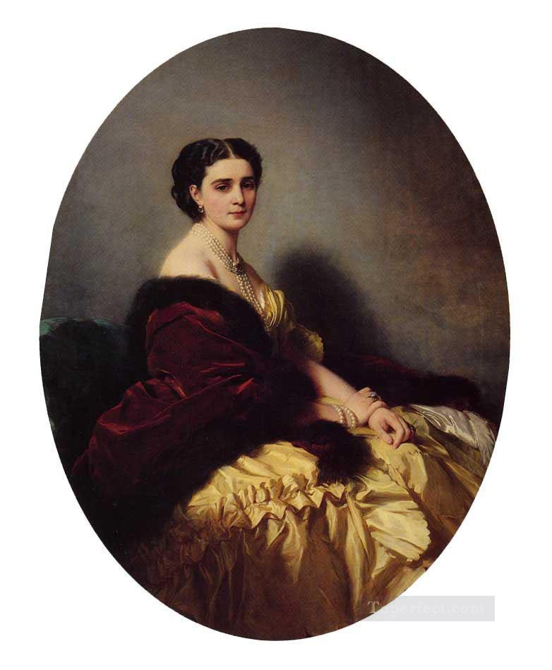 Madame Sofya Petrovna Naryschkina royalty portrait Franz Xaver Winterhalter Oil Paintings