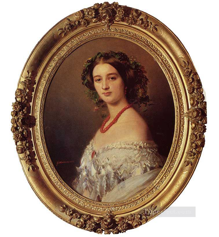 Malcy Louise Caroline Frederique Berthier de Wagram Princess Murat royalty portrait Franz Xaver Winterhalter Oil Paintings