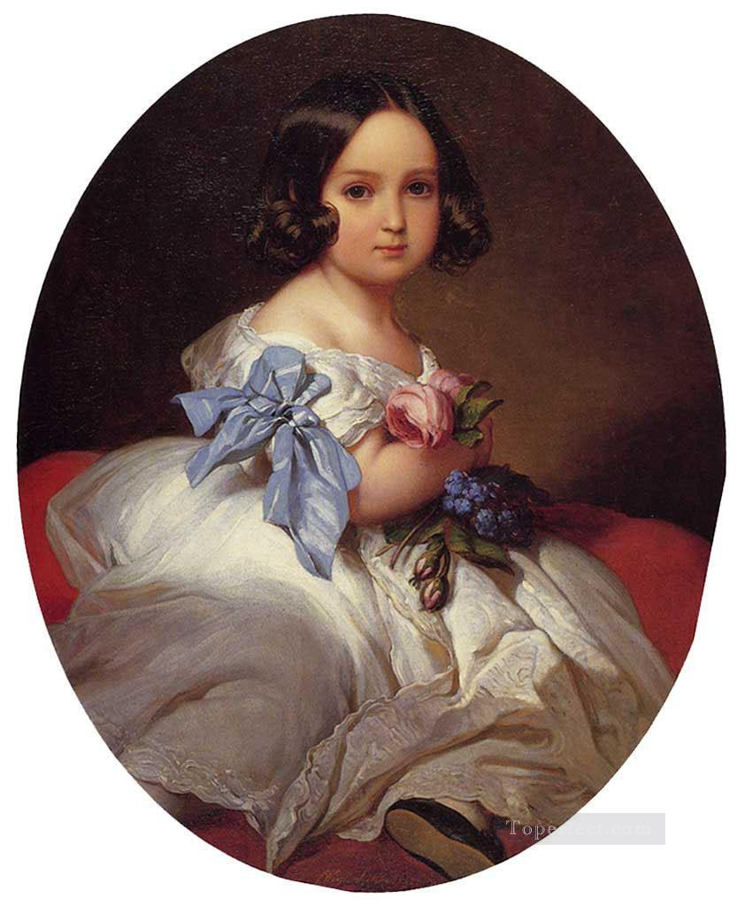 Princess Charlotte of Belgium royalty portrait Franz Xaver Winterhalter Oil Paintings