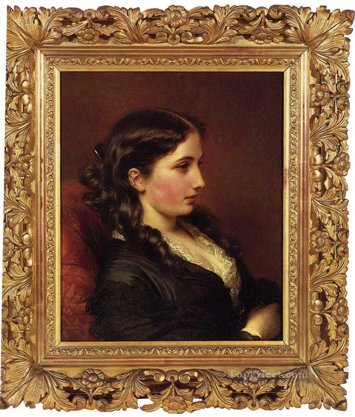 Study of a Girl in Profile royalty portrait Franz Xaver Winterhalter Oil Paintings