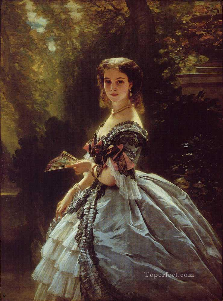 Princess Elizabeth Esperovna Belosselsky Belosenky Princess Troubetskoi royalty portrait Franz Xaver Winterhalter Oil Paintings