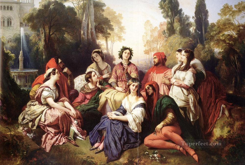 The Decameron Franz Xaver Winterhalter Oil Paintings
