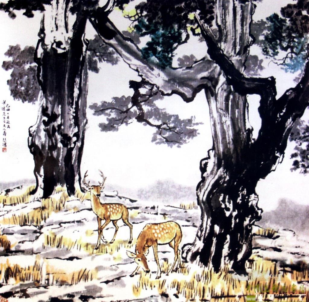 Xu Beihong deer old China ink Oil Paintings