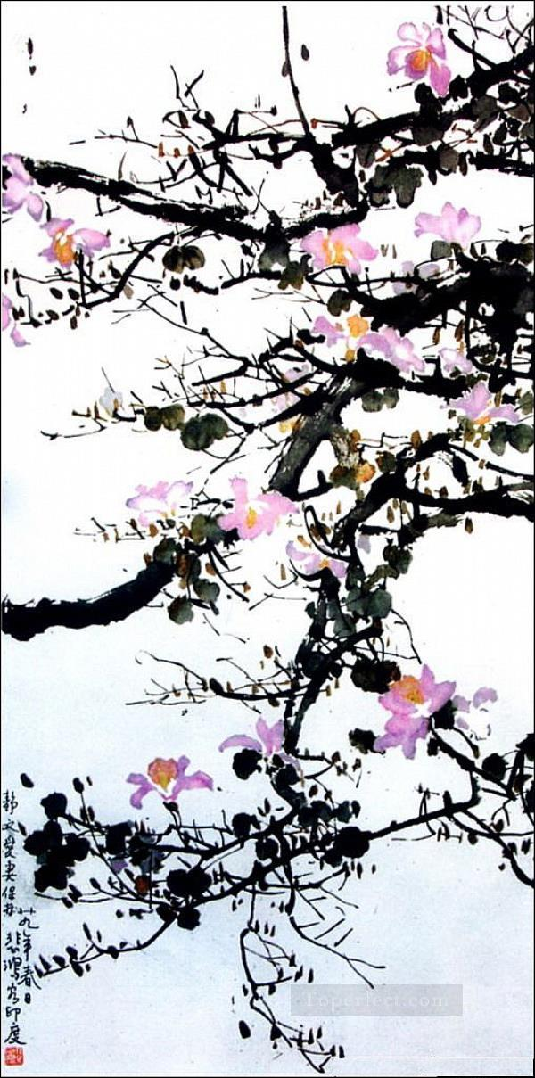Xu Beihong floral branches old China ink Oil Paintings