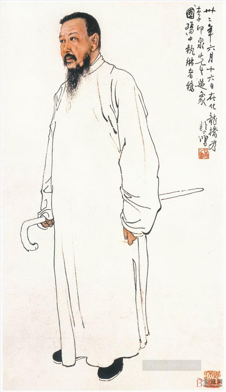 Xu Beihong portrait old China ink Oil Paintings