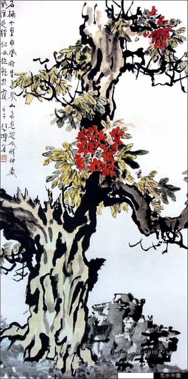 Xu Beihong tree old China ink Oil Paintings