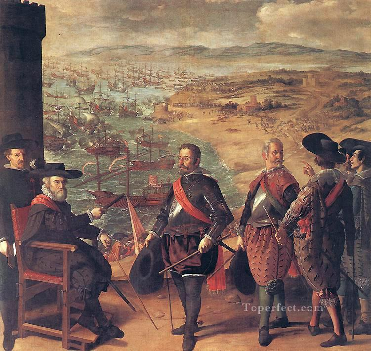 Defence of Cadiz against the English Baroque Francisco Zurbaron Oil Paintings