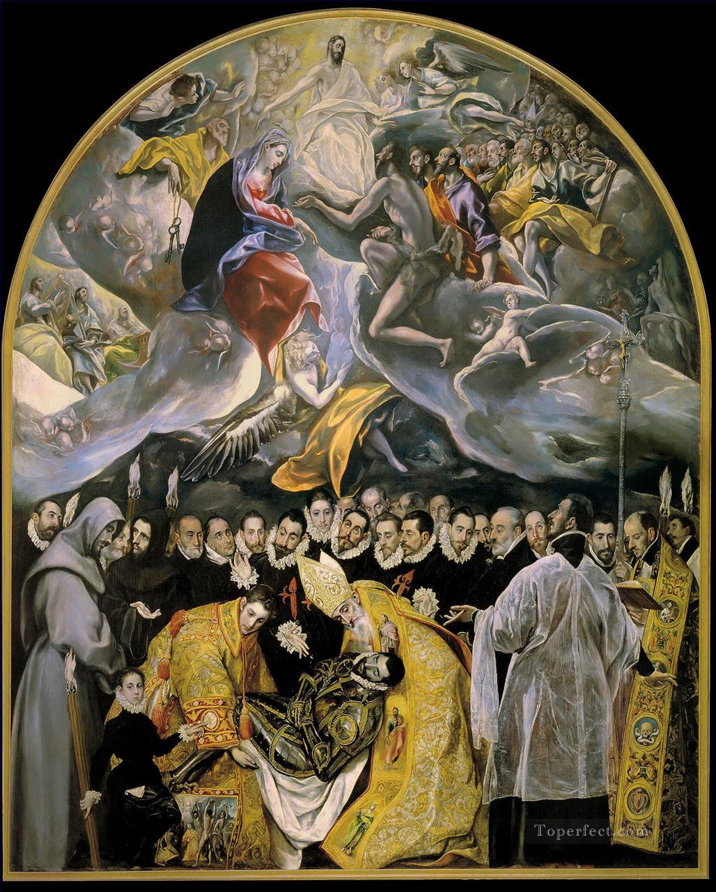 El Greco The Burial of the Count of Orgaz Painting in Oil ...