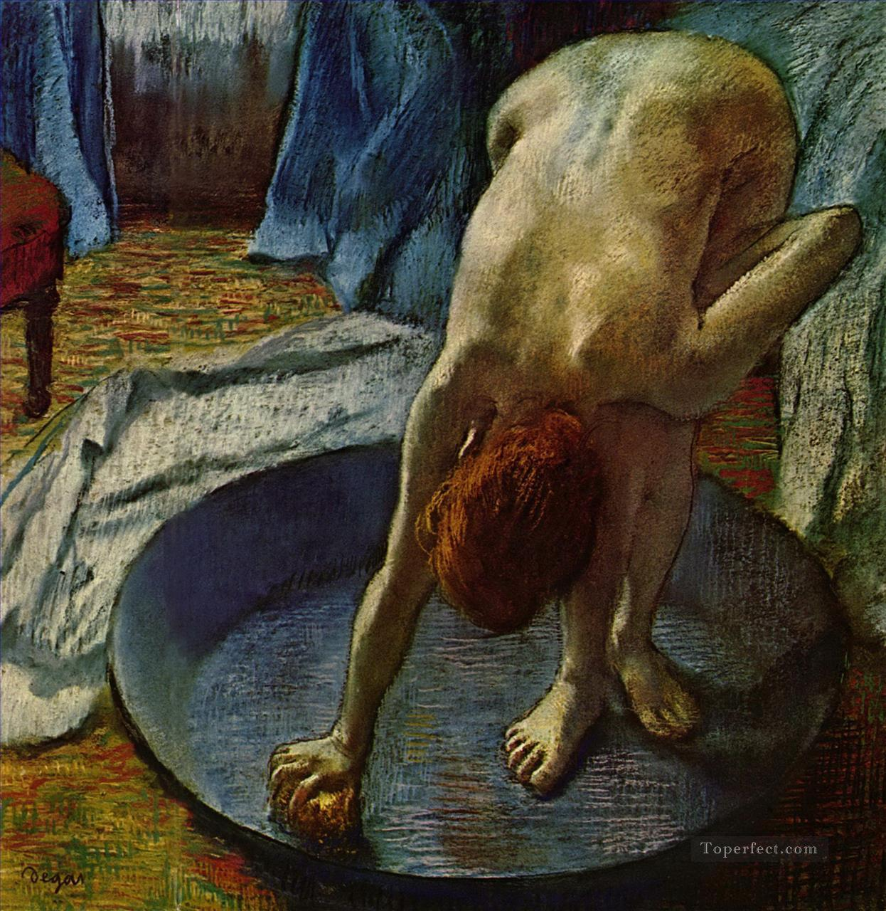 Edgar Degas Woman in the Bath Oil Paintings