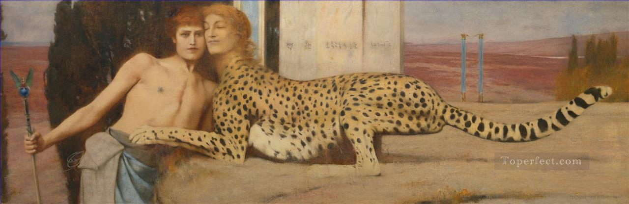 Fernand Khnopff The Caress Oil Paintings