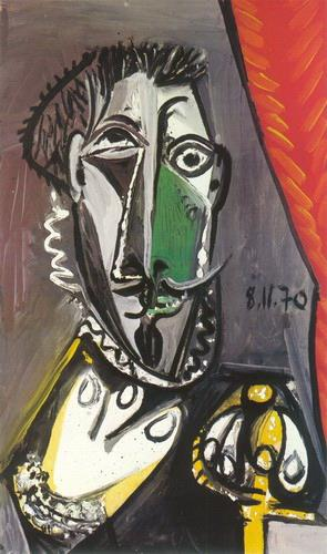 Buste d homme 1970 Cubism Oil Paintings