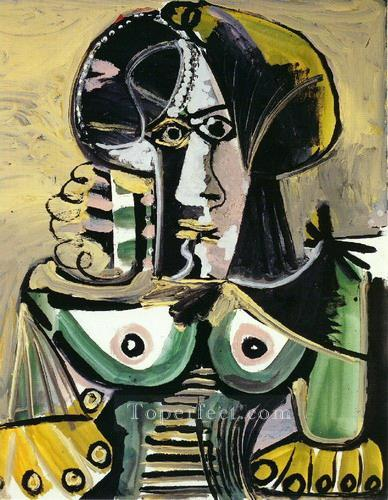 Buste de femme 4 1971 Cubism Oil Paintings