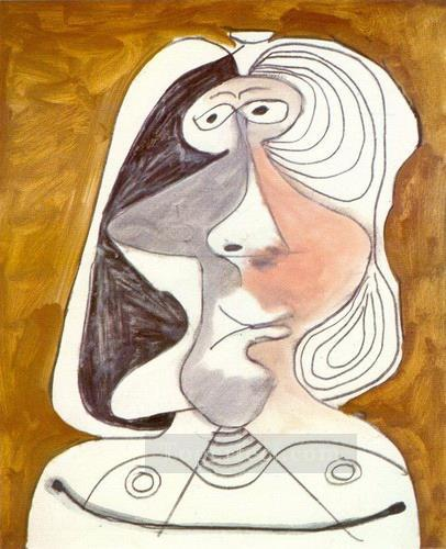 Buste de femme 6 1971 Cubism Oil Paintings