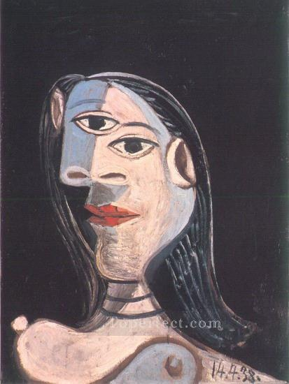 Buste de femme Dora Maar 1938 Cubism Oil Paintings