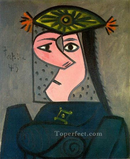 Buste de femme R 1943 Cubism Oil Paintings