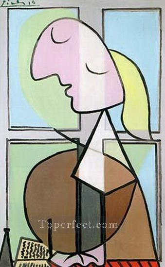 Buste de femme de profil 1932 Cubism Oil Paintings