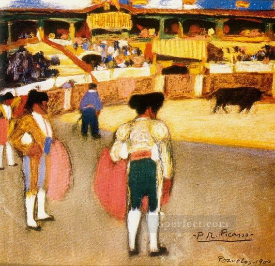 Courses de taureaux Corrida 2 1900 Cubism Oil Paintings