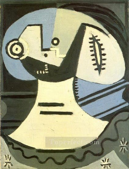 Femme a la collerette 1938 Cubism Oil Paintings