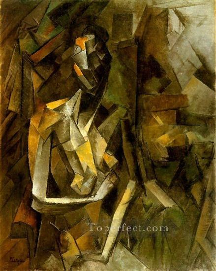 Femme nue assise 1 1909 Cubism Oil Paintings