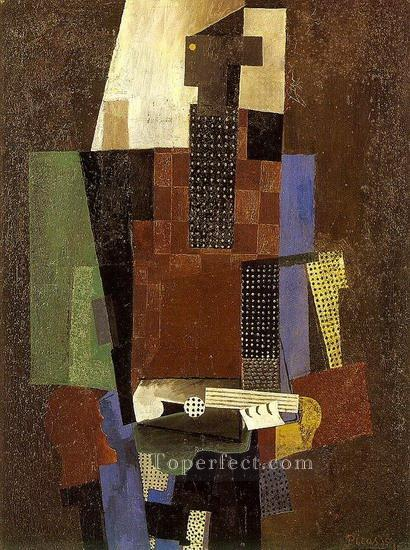 Guitariste 1916 Cubism Oil Paintings